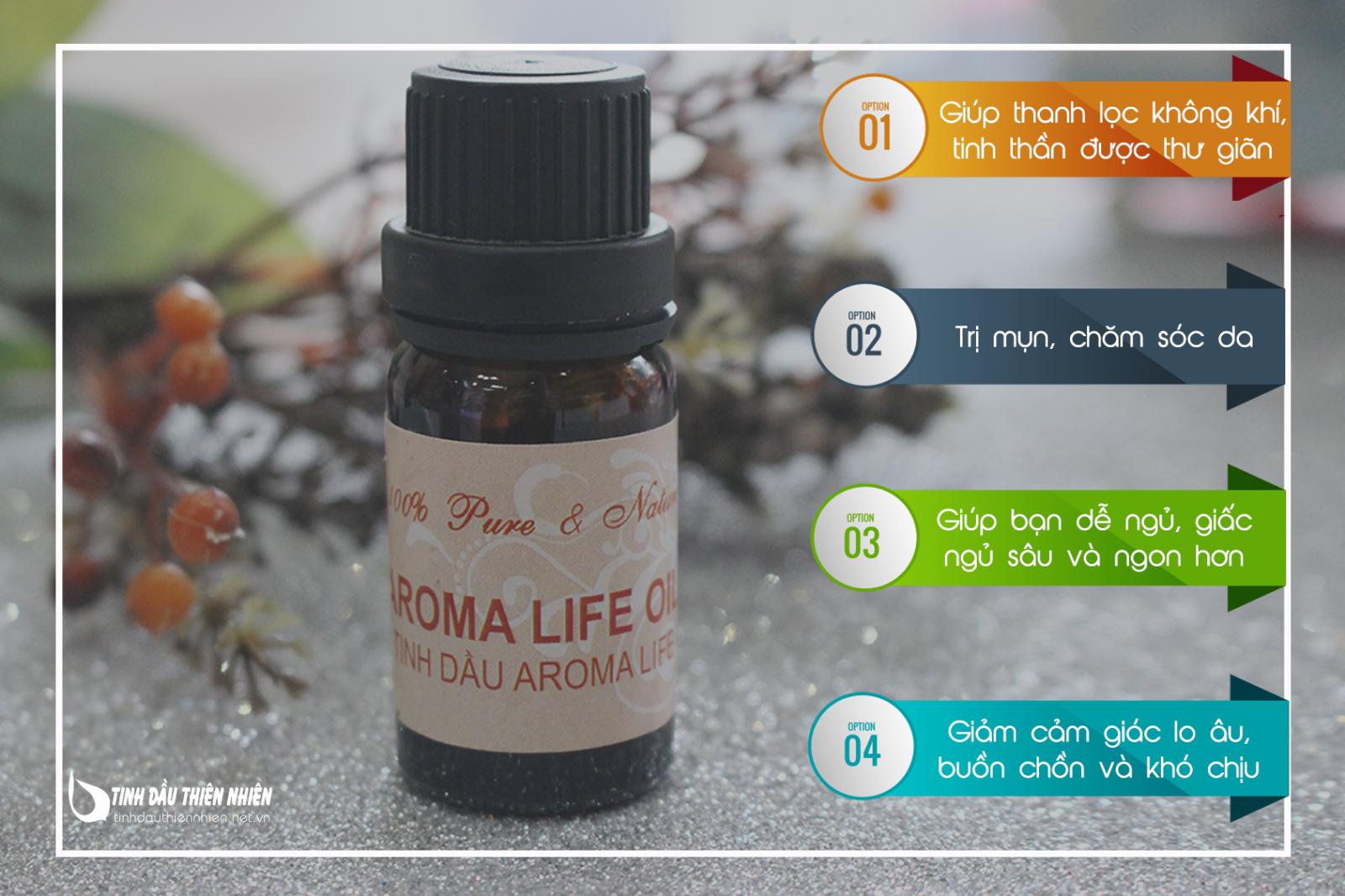 Công dụng của Tinh dầu thanh lọc không khí -Aroma Life Essential Oil
