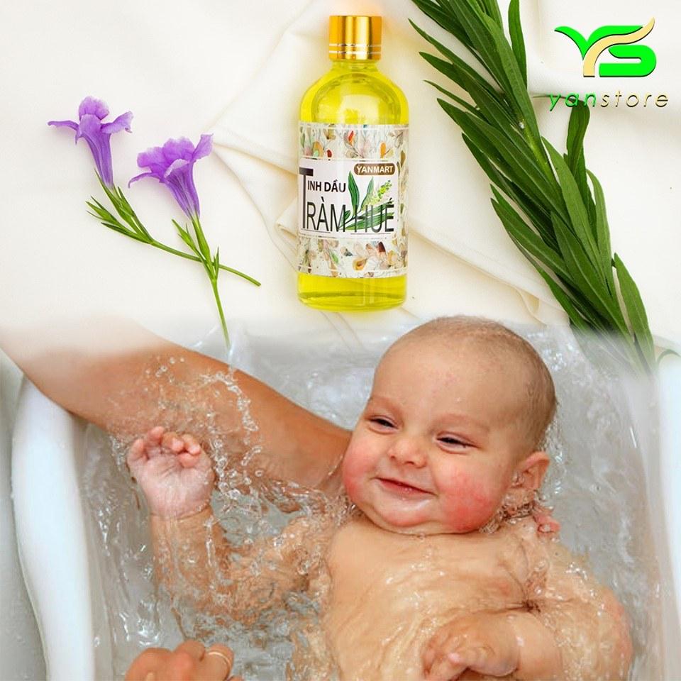 Sử dụng tinh dầu tràm để tắm cho trẻ